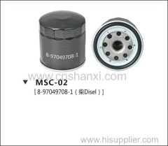 oil filter for ISUZU NKR.Changfeng Disel vehicles.Saiku.Gonow disel vehicles.Greatwall pick-up