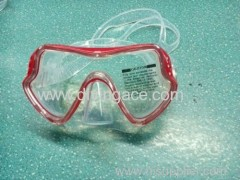 Tempered glass full face diving mask