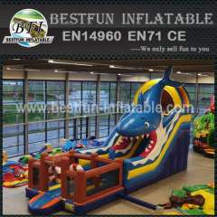 White Shark Theme Inflatable Slide