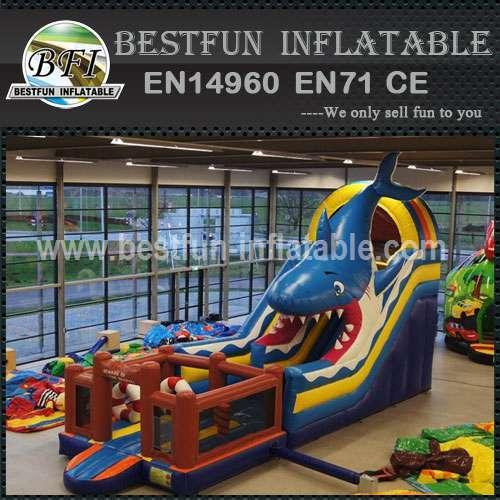 White Shark Theme Inflatable Slide