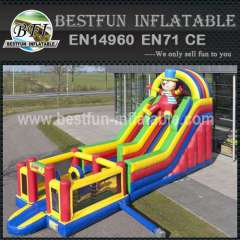 Clown Inflatable Dry Wet Slide