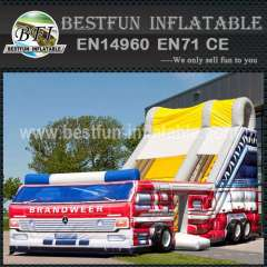 Inflatable Slide Fire Fighting Truck