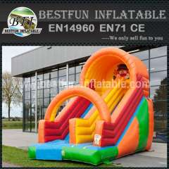 Orange Front Load Inflatable Slide