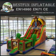 Cowboy Inflatable Water Slide