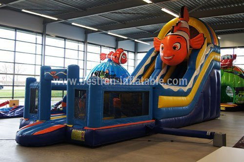 Adult commercial use inflatable marine animals water slide