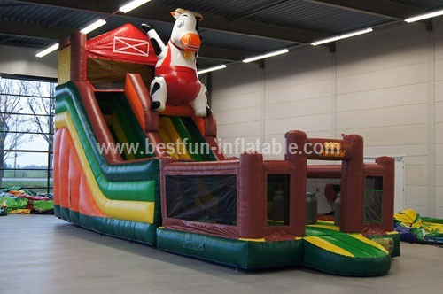 Animal cow inflable bouncy slide