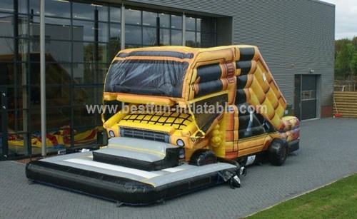 Commercial giant inflatable truck slide