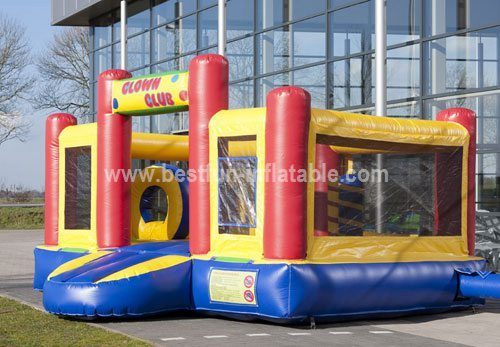 Factory price lovely inflatable clown slide