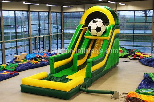 Inflatable football giant slide for adults and kids