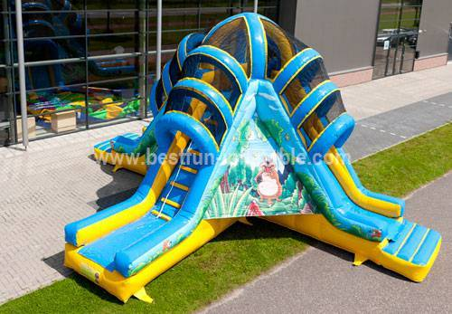 Popular Cheap Giant Inflatable Volcano Slide