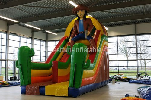Western cowboy inflatable jumping slide