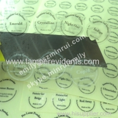 cosmetics transparent clear PET vinyl stickers