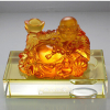 art glass crafts car crystal decorations liu li buddha