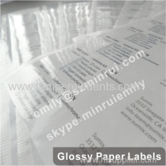 Custom Strong Adhesive Glossy Finished Mirror Avery Coated Paper Labels