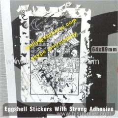 Graffti Eggshell Destructible Vinyl Stickers
