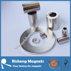 N42 round magnet D10 x d5 x 5mm china ndfeb magnet manufacturer