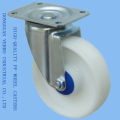 5 inches swivel top polyproplyene storage shelf casters