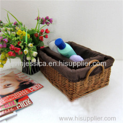 Home storage durable white wicker laundry basket for dirty clothes from manufacturer