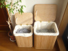 Bamboo collapsible bamboo laundry basket hamper with handle/storage box/bamboo basket