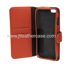 New arrival The most popular Leather cell phone case for Apple iPhone 6 with stand and wallet function