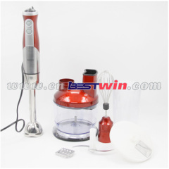 Cordless rechargeable stick blender