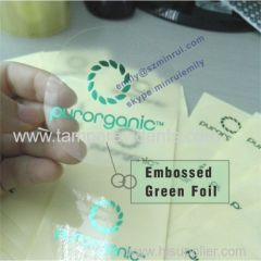 embossing foil transparent clear labels