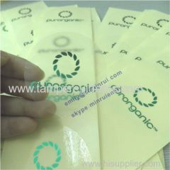 Custom Round transparent labels with foil stamping Clear stickers embossed with glossy foil Stamped self adhesive labels