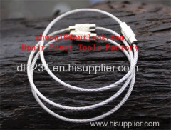 Stainless Steel Rope Keychain Ring Secure Key Ring