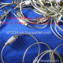 Stainless steel wire key ring badge Stainless Steel Wire