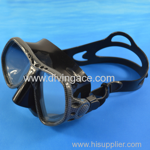 Adjustable strap silicone diving mask