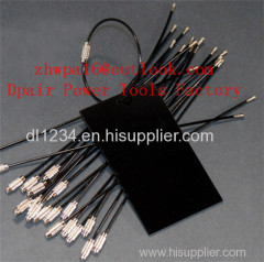 tag with metal plate + stainless steel wire cable