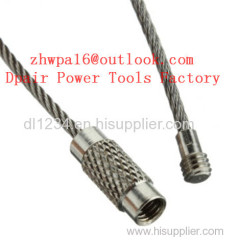Stainless Steel Wire Keychain Cable Key