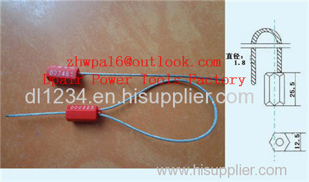 Security Cable Seal Cable Lock Cable Lock Seal