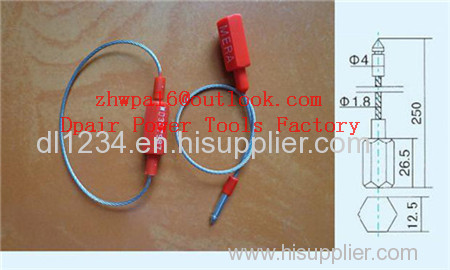 Aluminum Head Steel Cable Bar Coded Seal