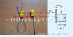 Pull Tight Gold Trailer Security Seals / Cable Sealing With Zinc Material For Meter Boxes