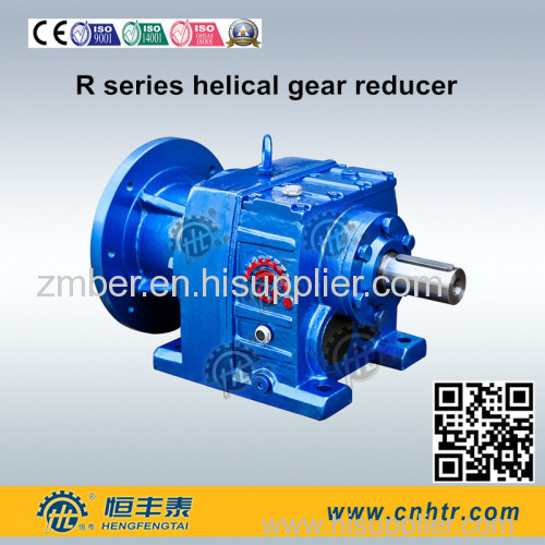 Helical speed reducer gearbox