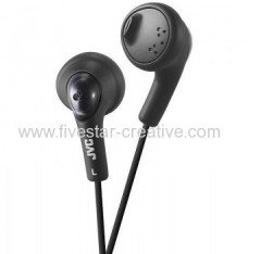 JVC Gumy HA-F160-B Ear Bud Headphones HAF160 Black