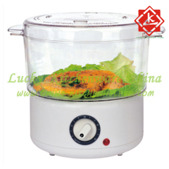 2.4L Food Steamer with Timer and Power Light Indicator