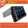 Universal car dvd player one 1 din 6.2 inch gps bluetooth radio ipod usb 3G wifi tv