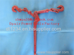 ratchet type load binder with grab hook and ratchet type load binder without links or hooks.