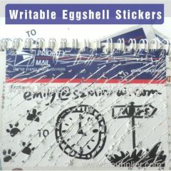 Brittle Eggshell Stickers With Priority Mail