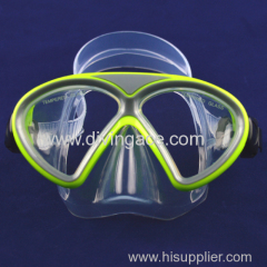 Hot sale waterproof full face silicone diving mask with tempered glass
