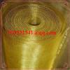 Woven bright brass wire mesh