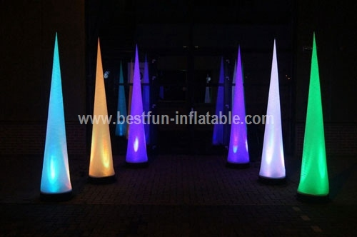 New arriveal party inflatable christmas decoration pillar