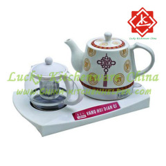 Ceramic electric kettle plastic suit