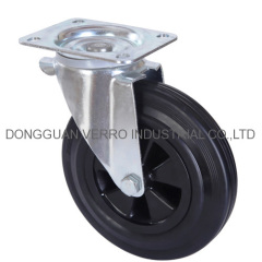 8 inches plastic core garbage container casters