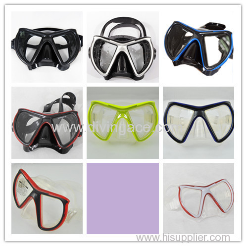 Scuba diving mask/ diving mask with adjustable buckles