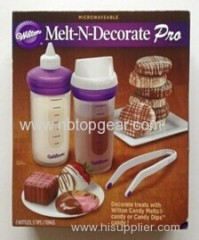 2014 New Hot Wilton Melt N Decorate Pro silicone candy decorating set