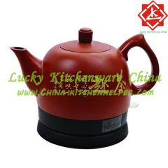 Purple sand teapot plastic set