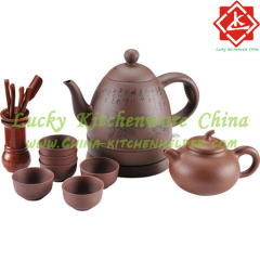 Tea set suit purple clay tea set